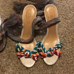 Schutz lace up sandals size 9.